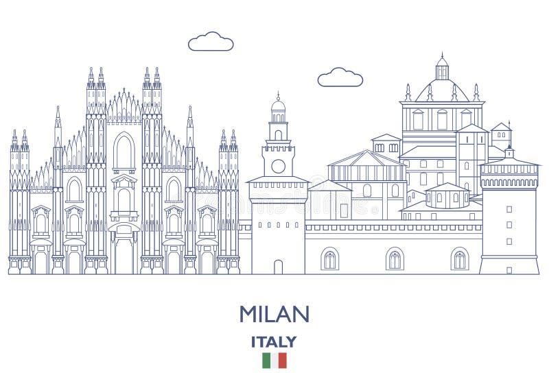 Milan City Skyline, Italien vektor abbildung