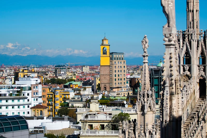 Milan cityscape royalty free stock photography
