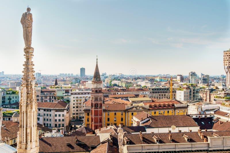 Milan Cityscape Stock Photo Image Of Mountains Skyline