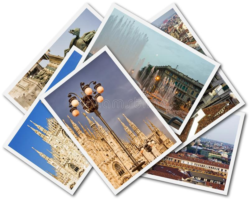 Milan Collage royalty free stock photography