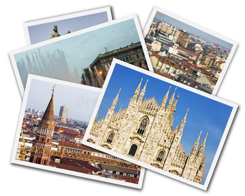 Milan Collage stock photo