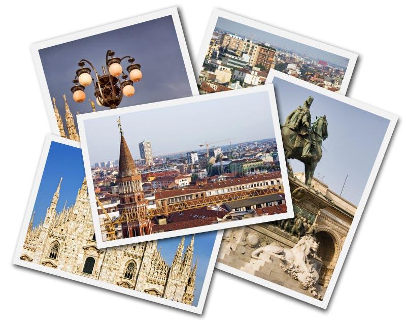 Milan Collage stock image