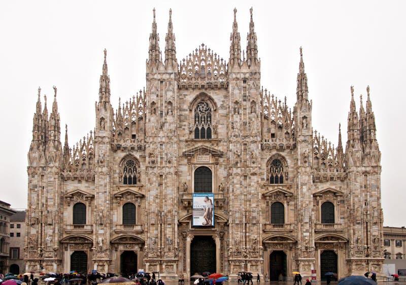 Milan domkyrka royaltyfria bilder