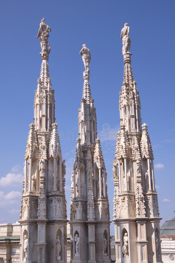 Milan domkyrka (Duomodien Milano), Italien royaltyfria bilder