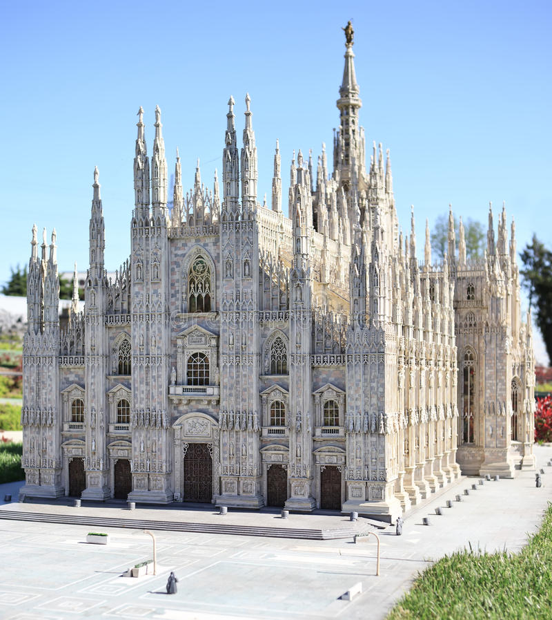 Download Milan Duomo Cathedral Miniature In Mini Park Stock Image - Image: 19191529