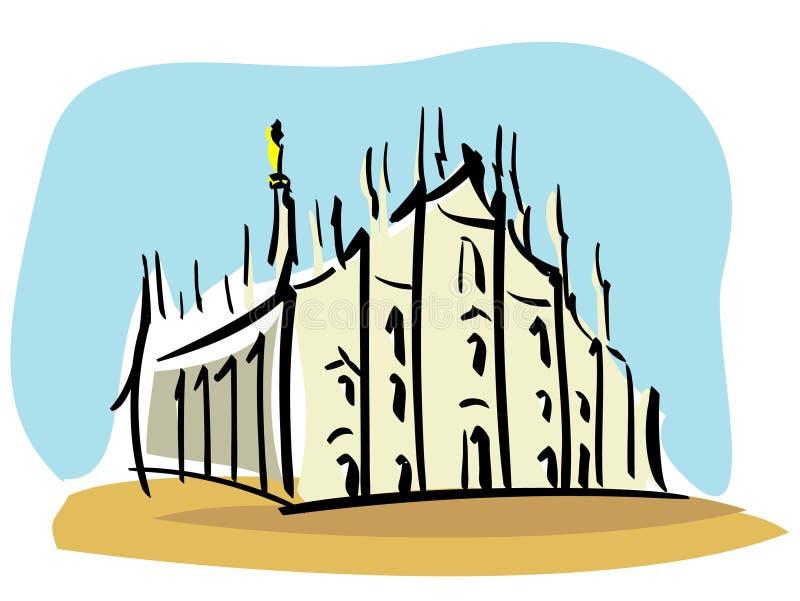 Milan (the Duomo of Milan) royalty free illustration