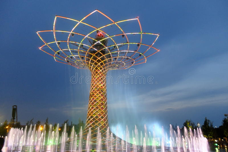 Milan expo tree of life royalty free stock images
