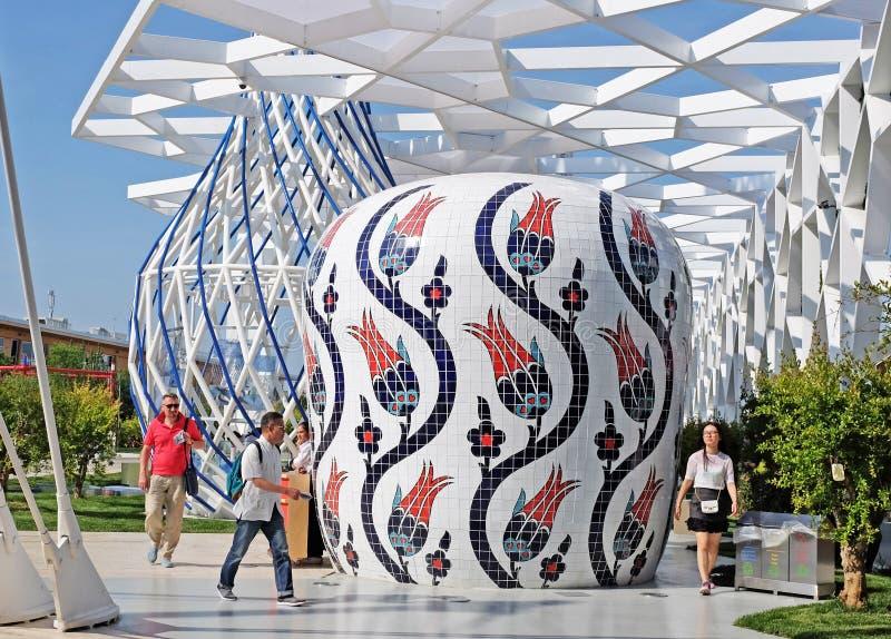 Milan, expo 2015, turkish pavilion royalty free stock photos