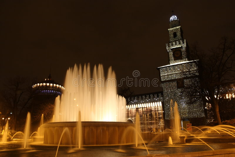 Milan Fountain stock photography