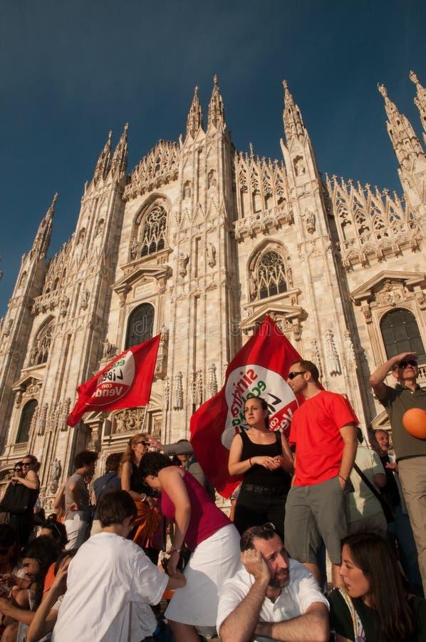 Milan - Giuliano Pisapia ny borgmästare royaltyfri foto