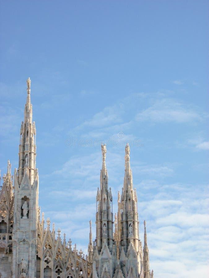 Milan iglicy kopuły fotografia royalty free