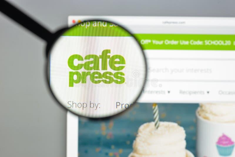 Milan, Italie - 10 août 2017 : cafepress page d'accueil de site Web de COM photo libre de droits