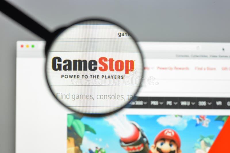 Milan, Italie - 10 août 2017 : Gamestop page d'accueil de site Web de COM I photo libre de droits