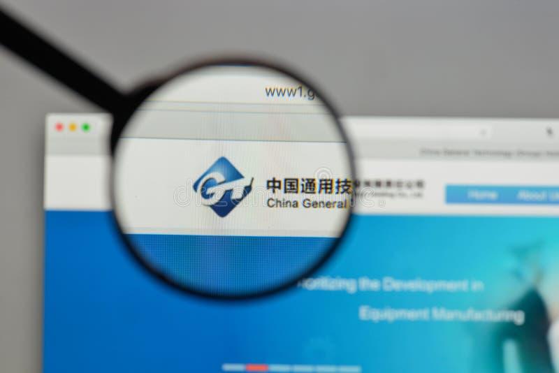 Milan, Italie - 10 août 2017 : Logo général de technologie de la Chine dessus image stock