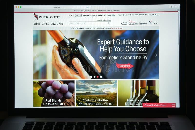 Milan, Italie - 10 août 2017 : Vin page d'accueil de site Web de COM Il est photo libre de droits