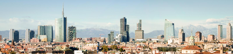 Milan (Italie), horizon image libre de droits