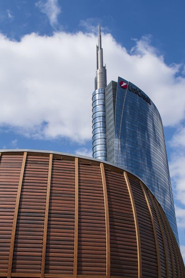 Milan, Italie, l'Europe, Porta Nuova, secteur, gratte-ciel, nouvel horizon de la ville, architecture, immobiliers financiers et images libres de droits