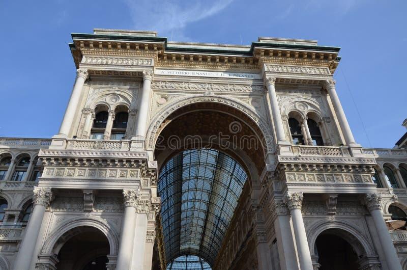 Milan, Italie 10 05 2015 : Le puits Vittorio Emanuele II photos libres de droits