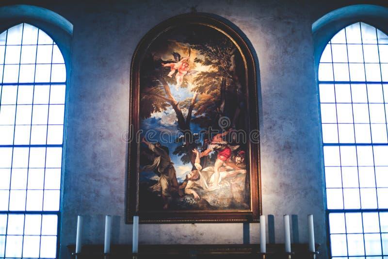 MILAN ITALIEN - DECEMBER 10,2015: Kyrkliga heliga Mary av nåd (Santa Maria delle Grazie), Milan fotografering för bildbyråer