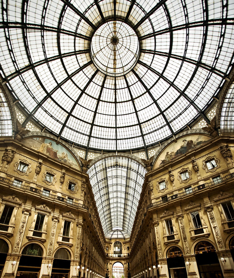 Download Milan, Italy stock photo. Image of vault, metal, structure - 24478354