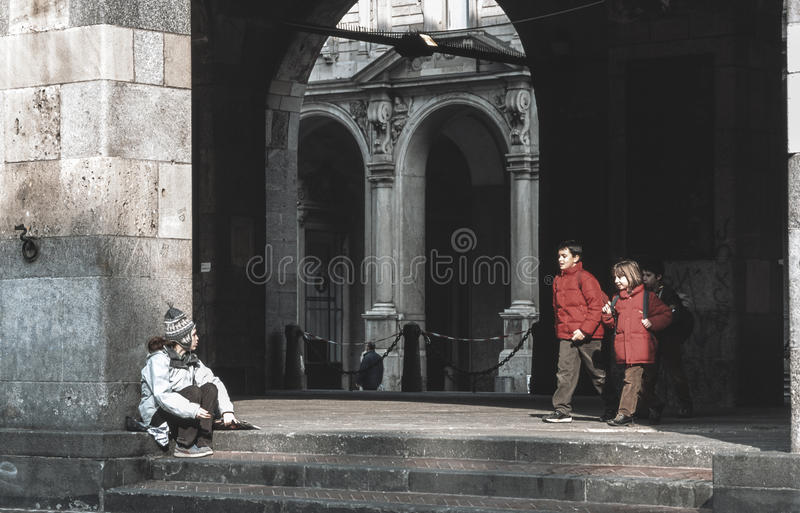 Download Milan (Italy) editorial image. Image of children, poor - 26997050