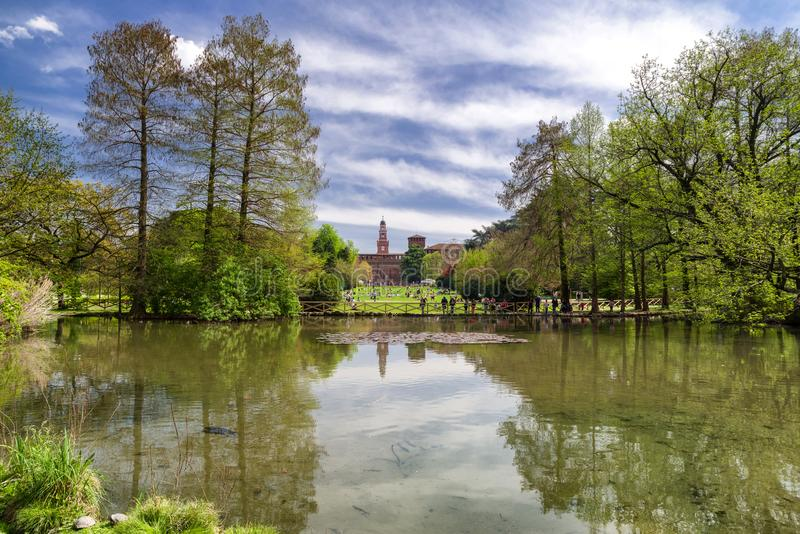 Parco Sempione in Milan, italy royalty free stock image