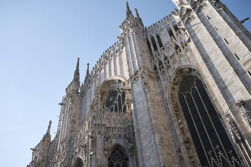 View of Milan Cathedral royalty free stock photo