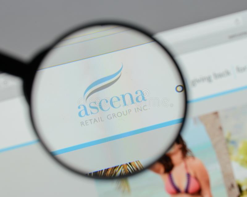 Milan, Italy - August 10, 2017: Ascena Retail Group logo on the. Website homepage stock photos
