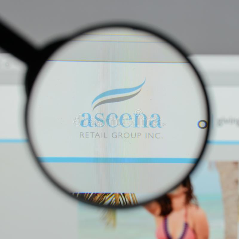 Milan, Italy - August 10, 2017: Ascena Retail Group logo on the. Website homepage stock images