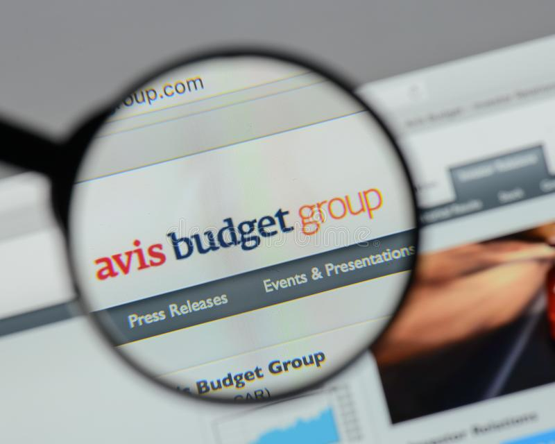 Milan, Italy - August 10, 2017: Avis Budget Group logo on the we royalty free stock image