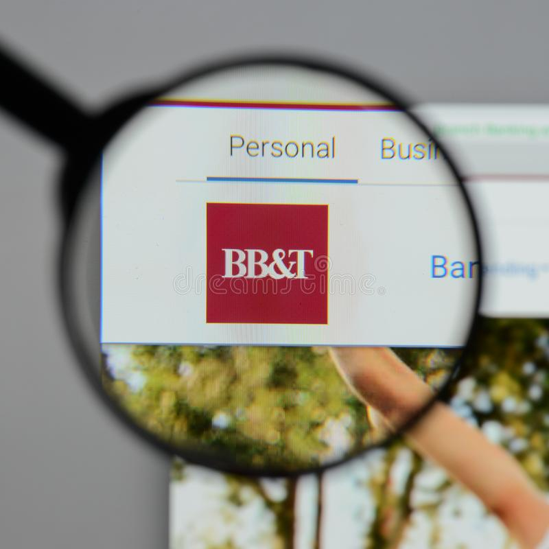 Milan, Italy - August 10, 2017: BB&T Corp. logo on the website h. Omepage stock photo