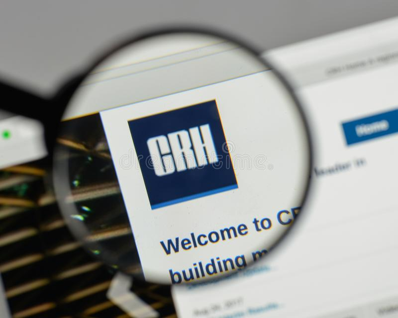 Milan Italy August 10 2017 Crh Logo On The Website Homepag