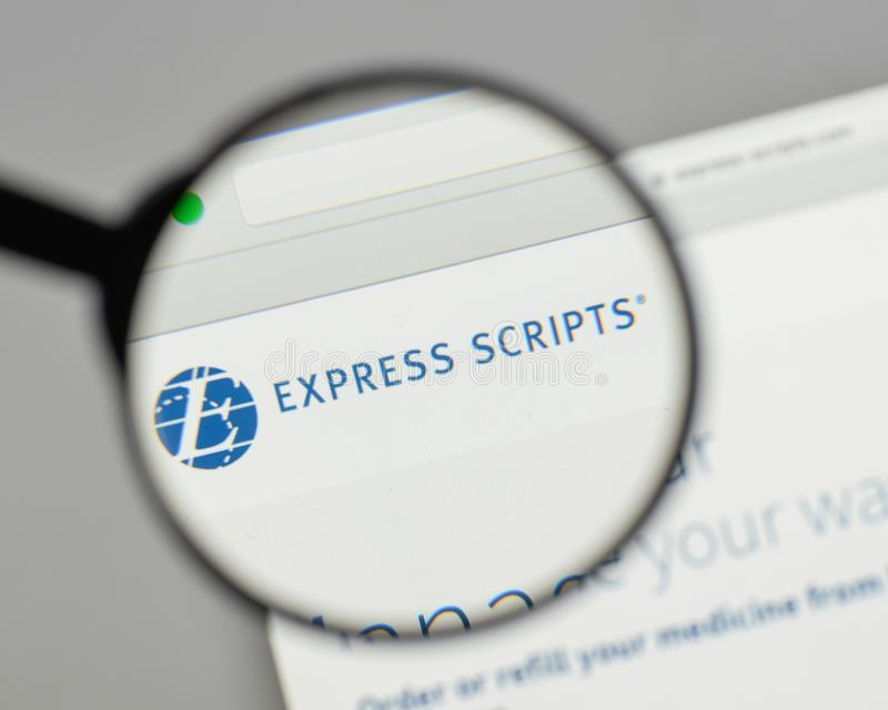 Milan Italy August 10 2017 Express Scripts Logo On The Webs