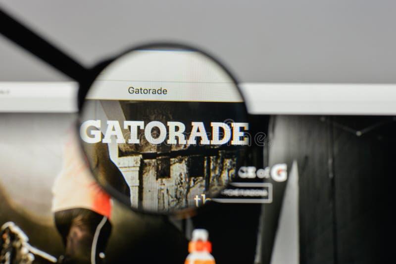 Milan Italy August 10 2017 Gatorade Logo On The Website Hom