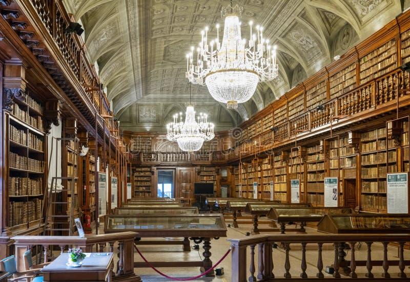 Milan Italy The Braidense National Library. Milan Italy. The Braidense National Library in Brera royalty free stock photo