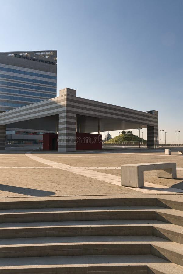 Milan Italy: costruzioni moderne a Portello fotografie stock
