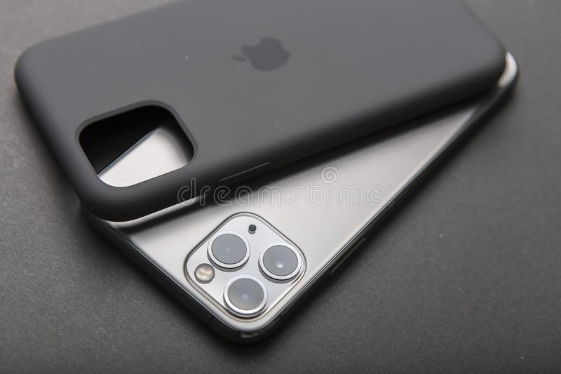 Still Life Of An Apple Iphone 11 Pro Smartphone On Black Background Editorial Photo Image Of Modern Communication 168408286