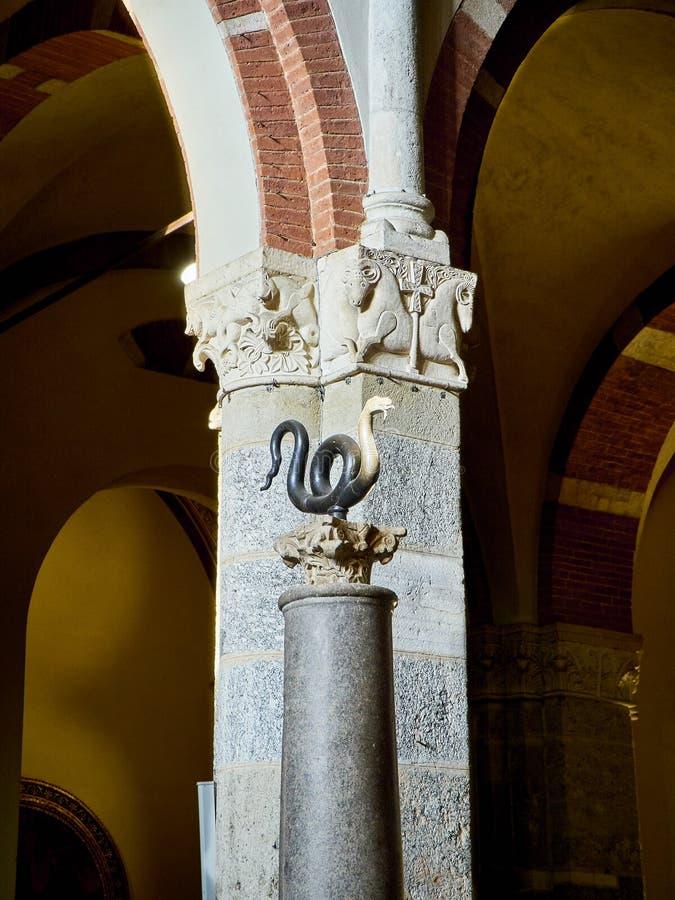 Basilica of Sant'Ambrogio. Milan, Lombardy, Italy royalty free stock photo