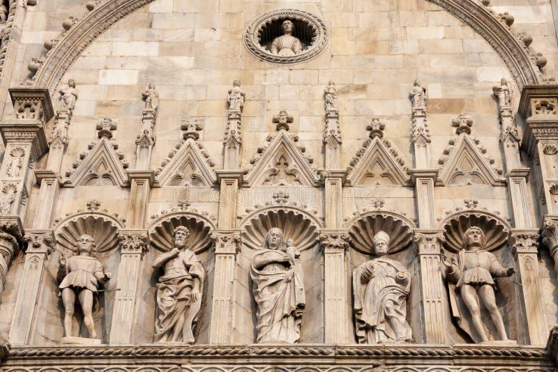 MILAN, ITALY/EUROPE - FBRUARY 21 : Detail of the Duomo in Milan royalty free stock images