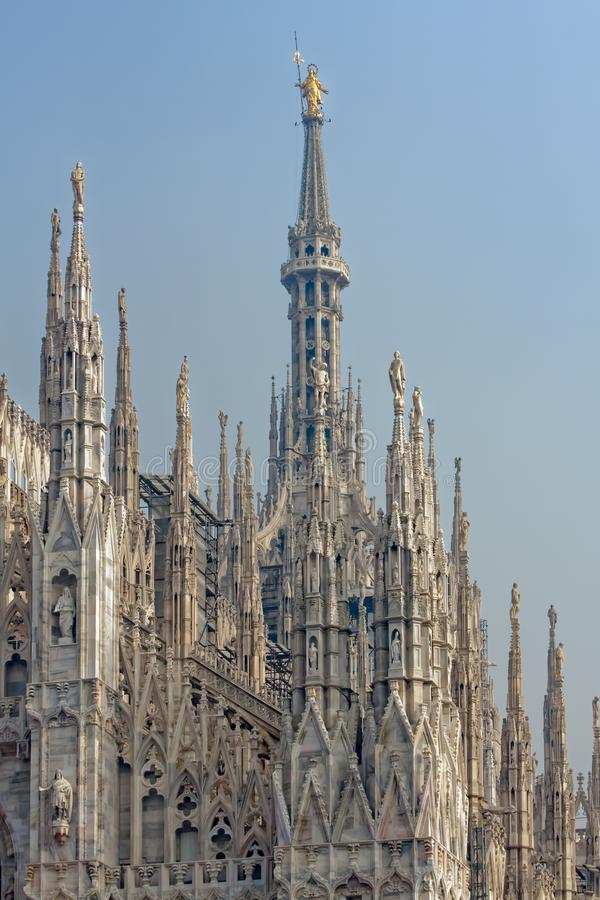 MILAN, ITALY/EUROPE - FBRUARY 23 : Detail of the skyline of the royalty free stock photos