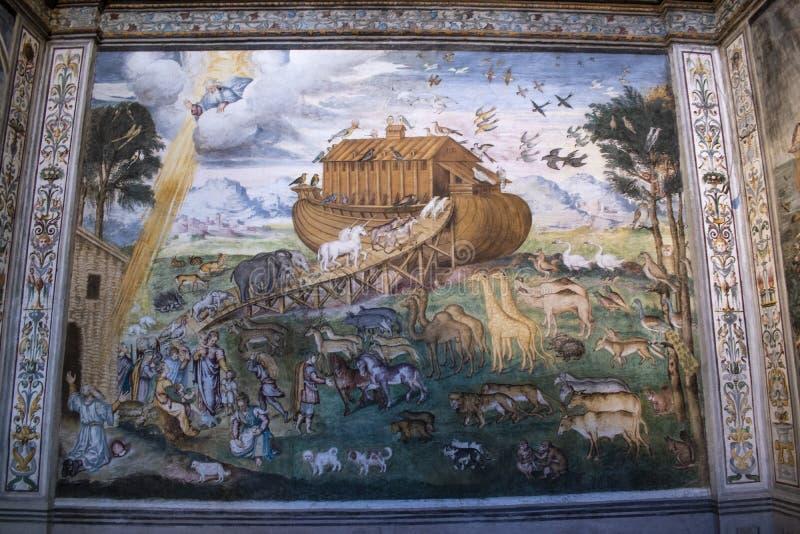 Milan, Italy, Europe, San Maurizio al Monastero Maggiore, church, the Sistine Chapel of Milan, art, fresco, monastery, convent royalty free stock photos