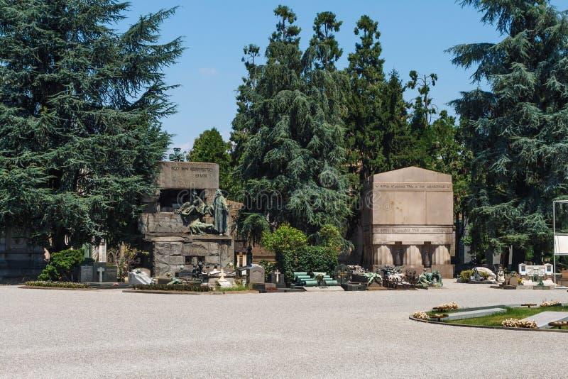 Milan, Italy. Famous landmark - the Monumental Cemetery Cimitero Monumentale royalty free stock photography