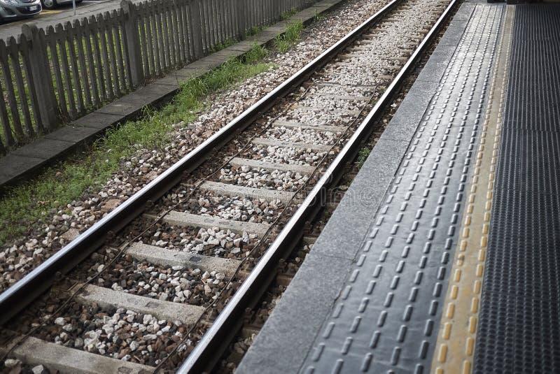 Underground rail tracks stock photos