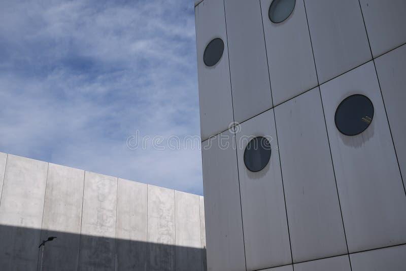 View of Fiera Milano. Milan, Italy - February 11, 2019 : View of Fiera Milano building stock photos