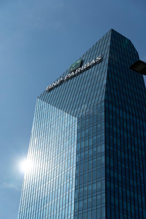 Diamond Tower in Milan royalty free stock image