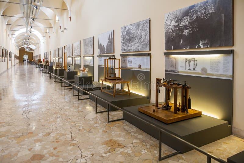 MILAN, ITALY - JUNE 9, 2016: models of Leonardo da Vinci`s scien. Tific studies displayed at the Science and Technology Museum Leonardo da Vinci stock photos
