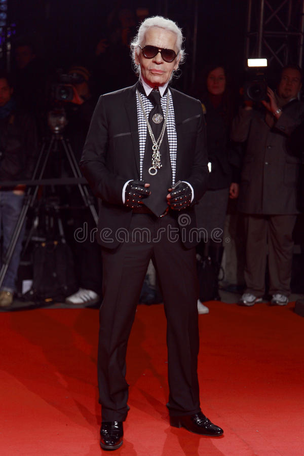 Free MILAN, ITALY - MARCH 02: Karl Lagerfeld Attends The Extreme Beauty In Vogue Party At The Palazzina Della Ragione During Royalty Free Stock Photos - 30068938