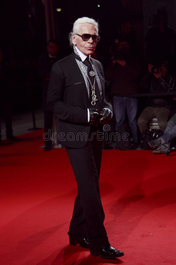 Free MILAN, ITALY - MARCH 02: Karl Lagerfeld Attends The Extreme Beauty In Vogue Party At The Palazzina Della Ragione During Royalty Free Stock Images - 30068939
