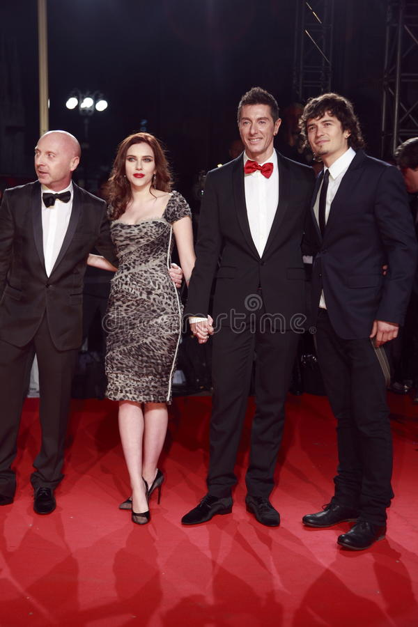 Domenico Dolce, Scarlett Johansson, Stefano Gabbana And Orlando Bloom Attend The Extreme Beauty In Vogue Editorial Image