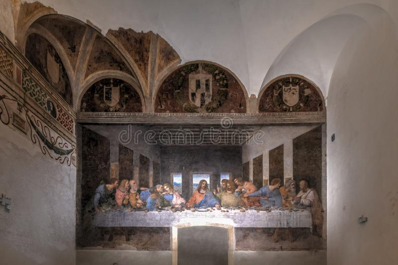 The Last Supper - Milan, Italy stock photo
